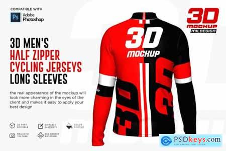 3D Mens Halfzipper Cycling Jersey 5269750