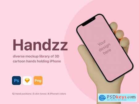 Handzz - 3D Hands Mockup 5452965