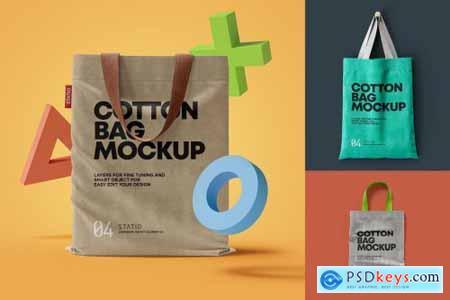 COTTON BAG MOCKUP- Statio pack 5490294