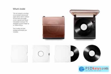 Vinyl Record Mockups Set 5461989
