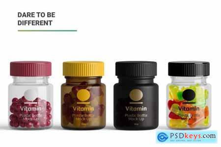 Vitamins Bottle Mockup 5263320