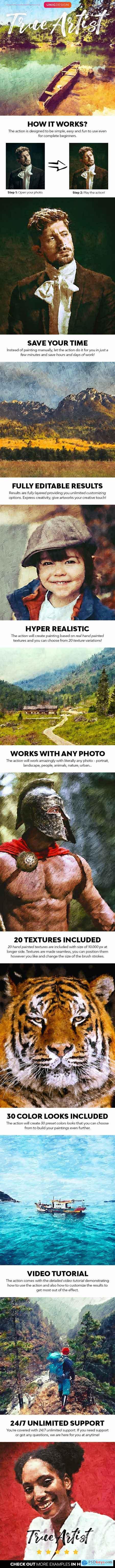 True Artist Photoshop Action 28413190