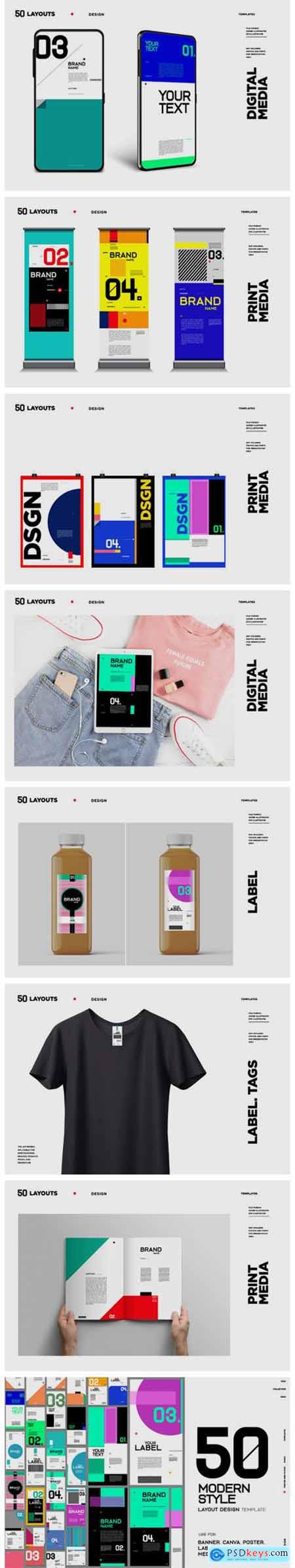 50 Modern Style Design Layout 4671997