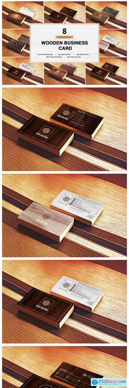 Wooden Business Card Pack [Horisont] 6039062