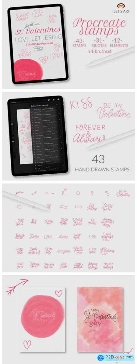 Valentines Day Procreate Stamps Love 6142807