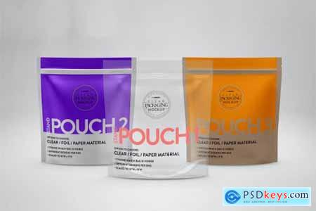 Standing Zip Pouch Packaging Mockup