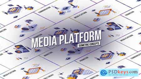 Media platform - Isometric Concept 28986908