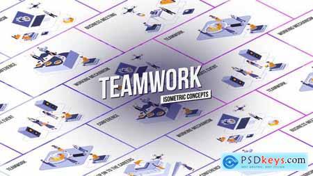 Teamwork - Isometric Concept 28986962