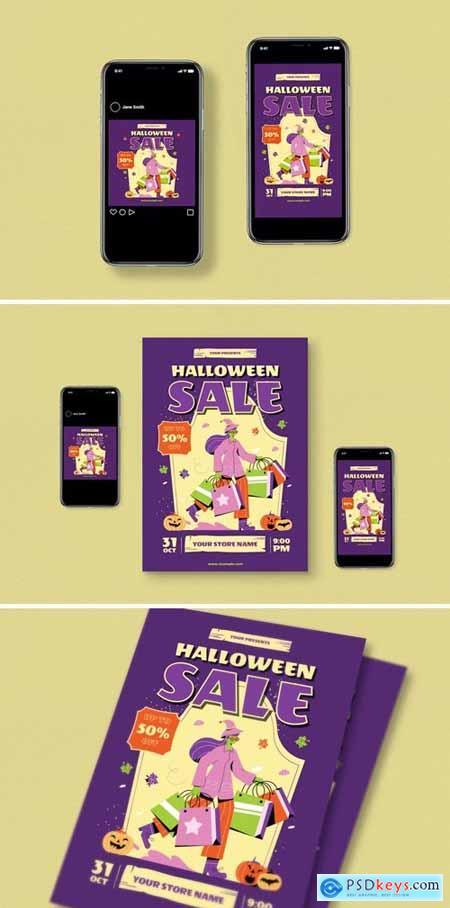 Halloween Sale Flyer Pack