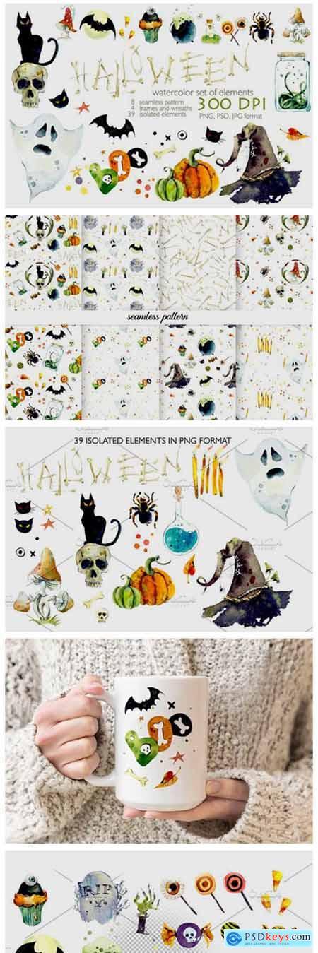 Watercolor Helloween 4300112