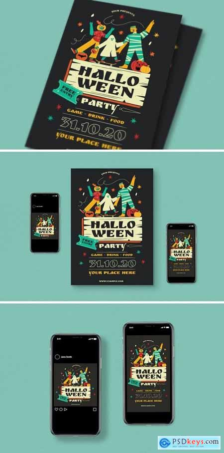 Halloween Party Flyer Pack