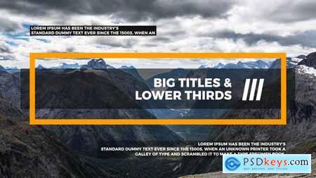 Big Titles & Lower Thirds III 22107887
