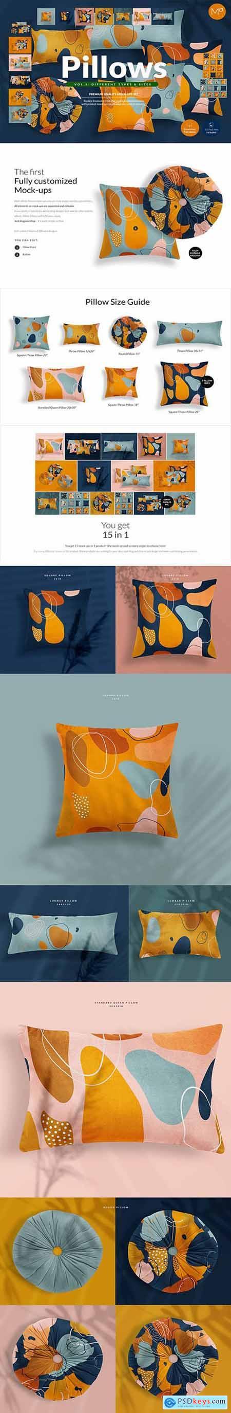 Pillows vol.1- Types & Sizes Mockups 5236271