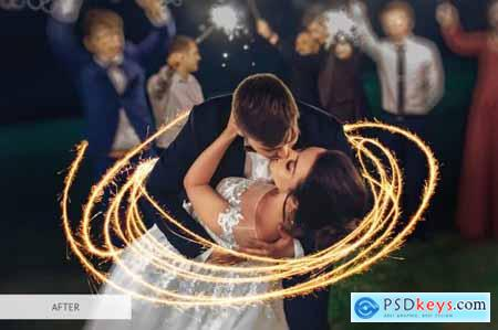 Sparklers Overlays Photoshop 4942734
