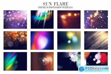 Sun Flare Overlays Photoshop 4942999