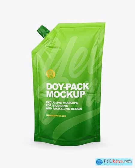 Matte Doy-Pack Mockup - Front View 68649
