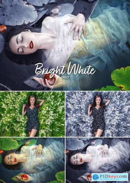 Green to White Filter Effect Mockup 387205531