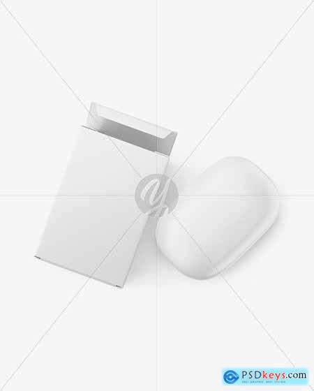 Matte Paper Carton Box With Soap Bar Mockup 68594