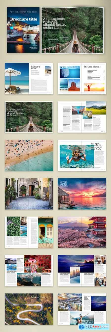 Travel Guide Brochure Layout 387207289