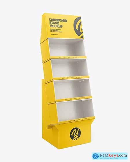 Empty Cardboard Display Stand Mockup 68793