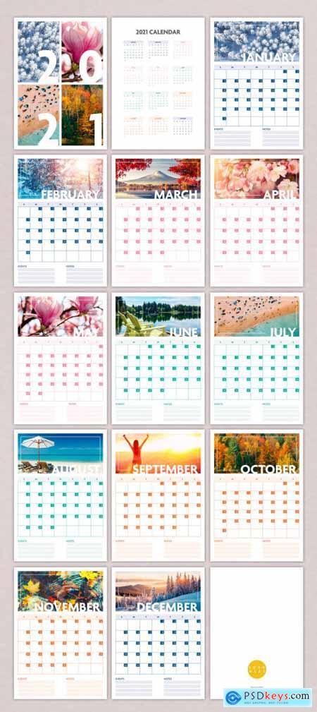 2021 Seasonal Wall Calendar Layout 387208137