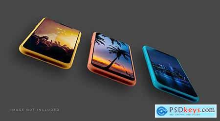 Realistic 3d smartphone mockup 18 PSD