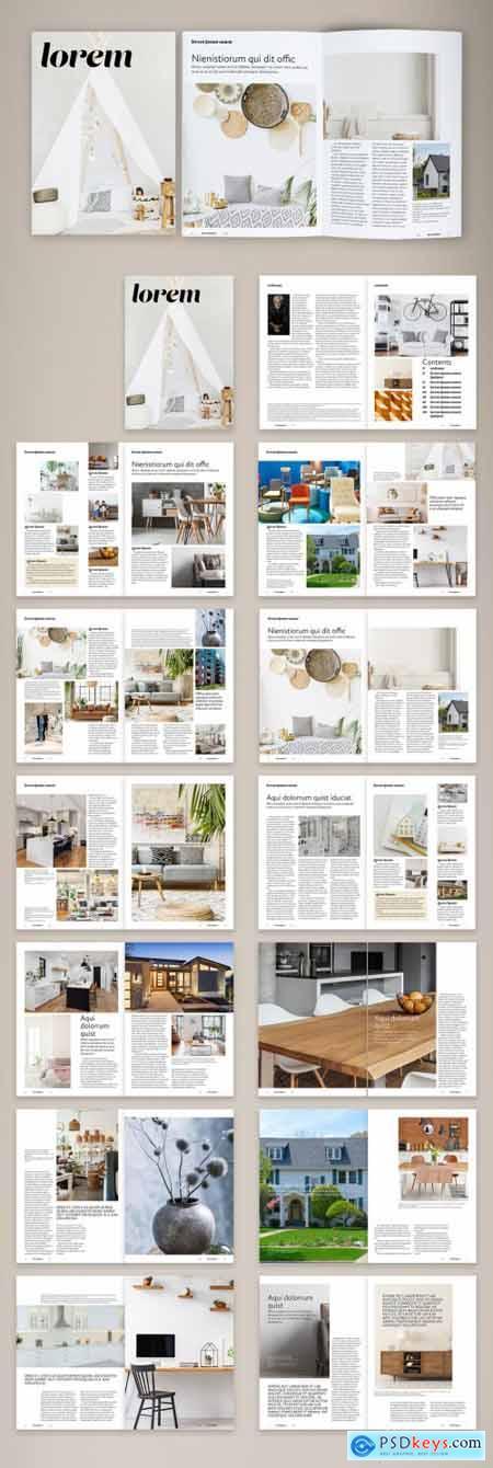 Naive Interior Design Magazine Layout 387207255