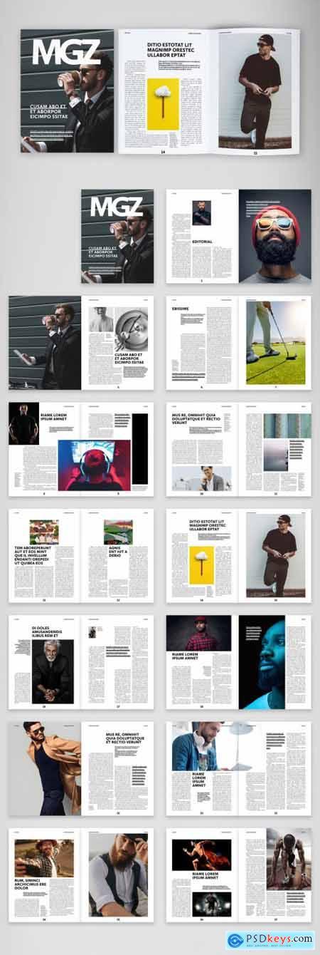Mens Style Fashion Magazine Layout 387207243