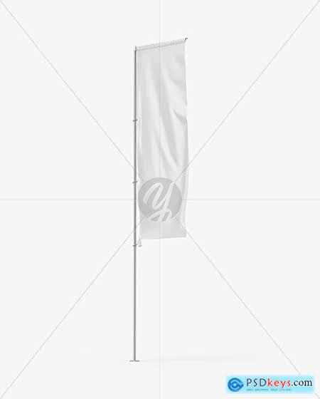 Vertical Sail Flag Mockup 68753