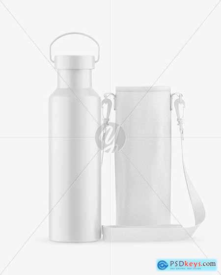 Matte Water Bottle W- Case Mockup 68781