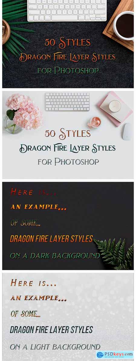 50 Dragon Fire Photoshop Layer Styles 6224440