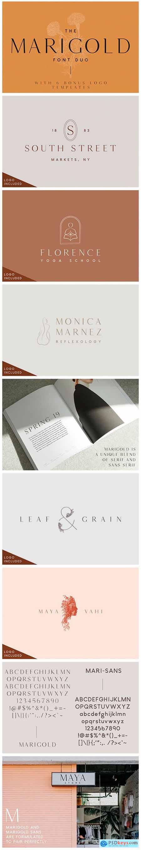 Marigold - Font Duo and Logo Set 3771869