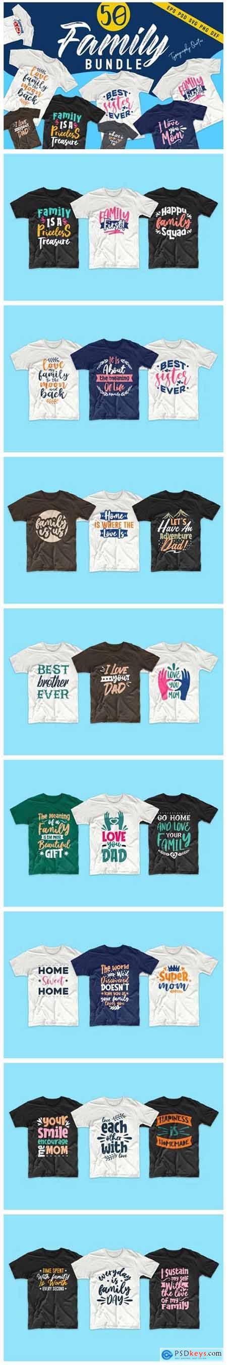Family SVG Bundle Quotes T-Shirt Design 6204685