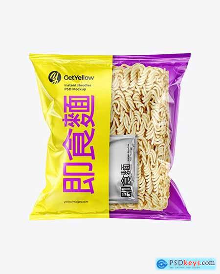 Instant Noodles Pack Mockup 68719