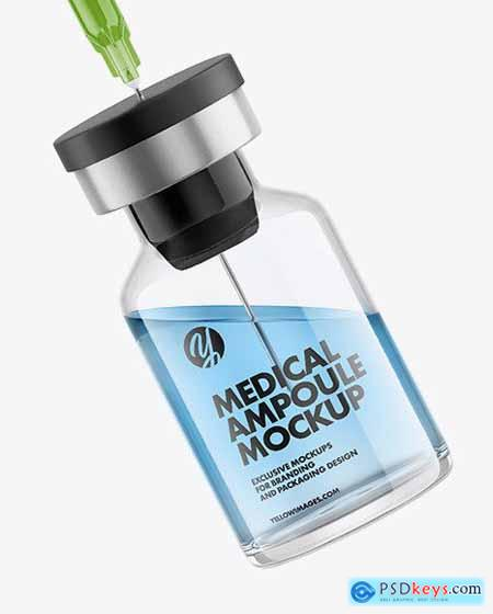 Medical Ampoule with Syringe Mockup 68788