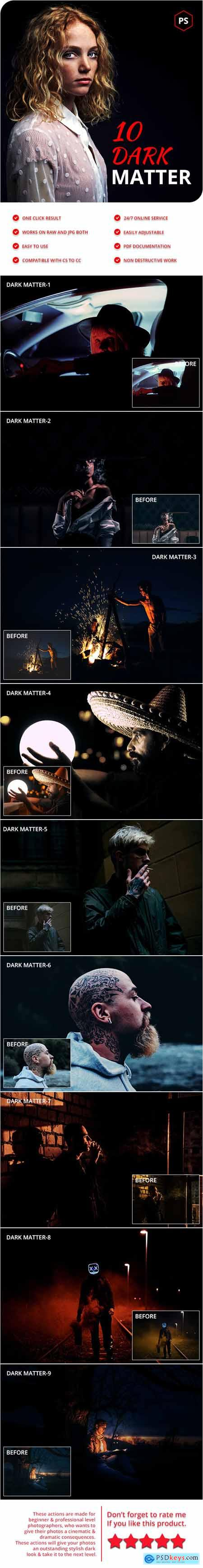 10 Dark Matter Photoshop Actions 28329765