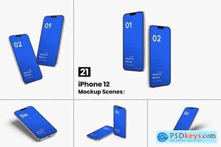 iPhone 12 Mockup (Concept) - 21 Mockups Scenes