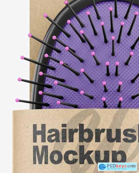 Hairbrush with Label Mockup 67732