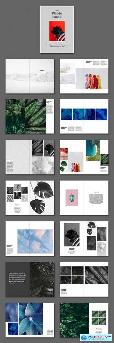 Photo Album Book Layout 387474509