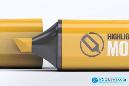 Highlighter Marker Pen Mock-Up