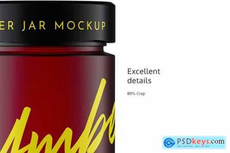 Amber Matte Jar Mockup 4944481