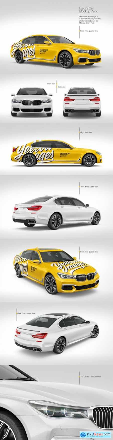 Luxury Car Mockup Pack 69771