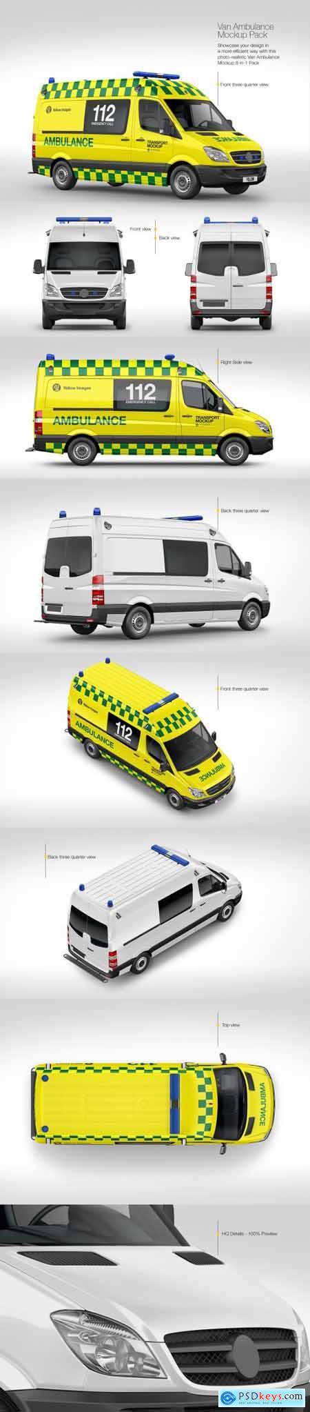 Van Ambulance Mockup Pack 69760