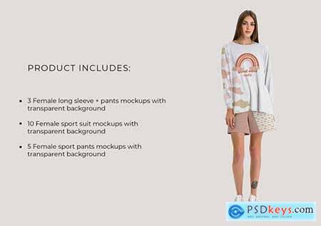 Casual Sport Clothes Mockup Set 5383783