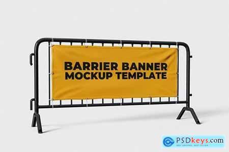 Barrier Banner Mockup Template