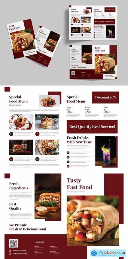 Tasty Fast Food - Bifold Brochure