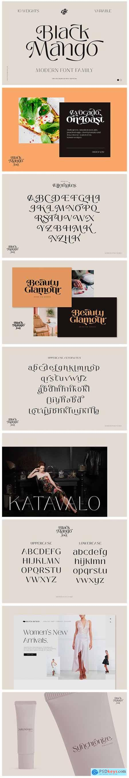 Black Mango - Modern Beauty Font 5484322