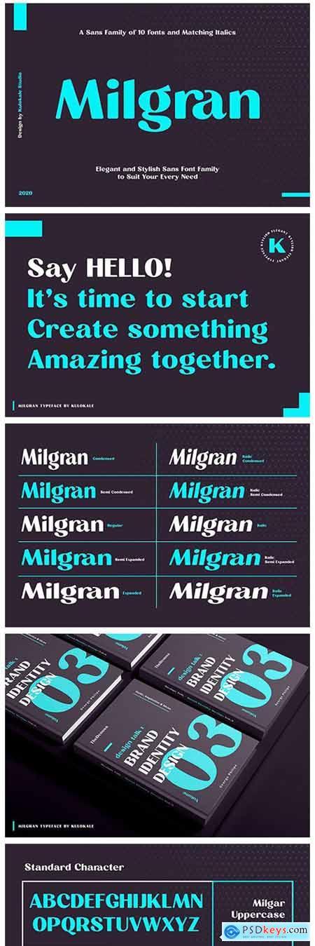 Milgran Sans Font Family 4933769