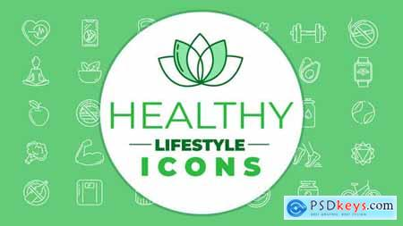 Healthy Lifestyle Icons 28449611
