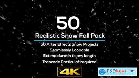 50 Realistic Snow Falls Project Pack 29151895